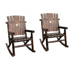Char-Log Star Rocker Twin Chair