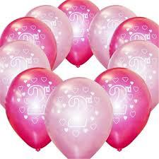 10 pcs lot 2 ans joyeux anniversaire ballons fille garçon fête d