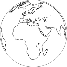 Earth Globe Coloring Page WeColoringPage 067
