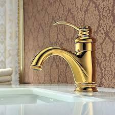 waschtisch armatur farbe gold messing einhebelarmatur