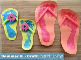 Summer Kids Craft Footprint Flip Flops