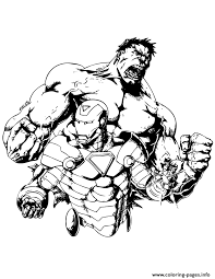 Incredible Hulk And Iron Man Coloring Pages Print Download 479 Prints