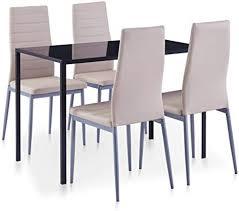 vidaxl essgruppe 5 tlg esszimmertisch esstischset esszimmergarnitur küchentisch esszimmer stuhl tisch sitzgruppe esstisch mit 4 stühlen
