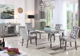 monroe silver mirror 5 pc dining room badcock home furniture