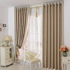 Champagne Satin Curtains Blackout Curtain For Living Room