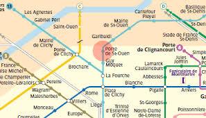 metro denis porte de porte de ouen station map metro