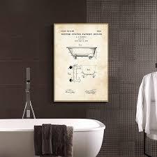 industriellen stil zahnpasta wc papier patent poster vintage leinwand druck wand kunst bild malerei moderne badezimmer dekoration