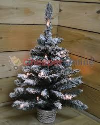 8ft Christmas Tree Ebay by Premier 60cm Pre Lit Flocked Christmas Tree Ebay