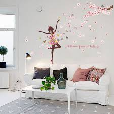 Vinyl Butterfly Fairy Dance Living Room Bedroom Wall Decorations Glass Home Decorating Art Sticker