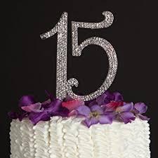 Amazon 15 Cake Topper 15th Birthday Anniversary Quincea±era