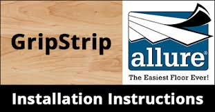 Easy Grip Strip Flooring by How To Install Trafficmaster Allure Gripstrip Installation