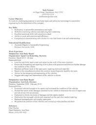 Auto Mechanic Resume Examples