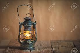 Antique Kerosene Lanterns Value by Vintage Kerosene Oil Lantern Lamp Burning With A Soft Glow Light