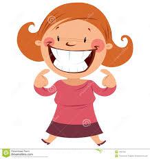 Big smile with teeth clipart boy