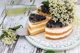 blaubeer joghurt torte mit holunder c b with andrea