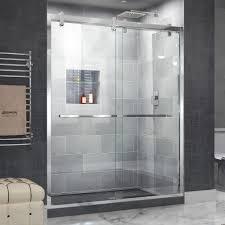 dreamline encore 56 in to 60 in x 76 in frameless bypass shower