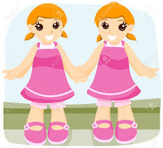 Identical twins clipart