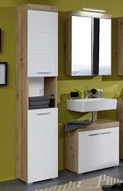 badezimmer set amanda weiß hochglanz eiche asteiche 3 teilig