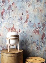newroom vliestapete blau tapete industrial beton betonoptik putzoptik rot beige vintage modern putz zement für wohnzimmer schlafzimmer küche