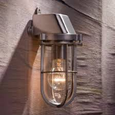 admiral wall light in matt nickel plated bronze with clear glass