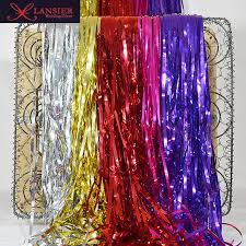 metallic silver foil fringe curtains best curtain 2017