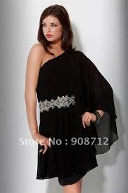 black one shoulder long sleeve dress cocktail dresses 2016