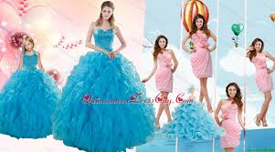 teal sweetheart beading and ruffles sweet 16 dress and hand made