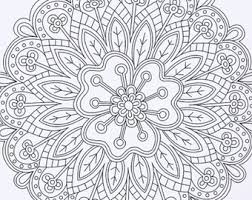 Fanciful Printable Adult Coloring Book Instant Download Pages DIY