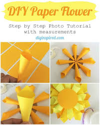 DIY Paper Flower Craft Tutorial Inspired