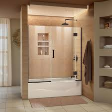 dreamline unidoor x 58 in w x 58 in h frameless hinged tub door