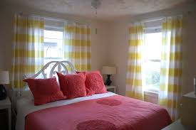 White And Gray Striped Curtains by Ideas U0026 Tips Awesome Yellow Horizontal Striped Curtains With Pink
