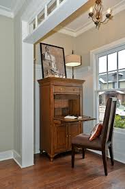 secretary desk with hutch living room traditional with abattant