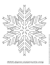 Paper Snowflake Patterns Coloring Page