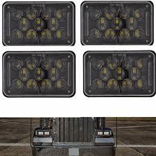 black 4x6 45w rectangular led headlights drl for kenworth t800