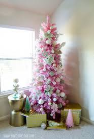Pink Flocking Spray For Christmas Trees by Pink Flocked Christmas Tree Christmas Lights Decoration