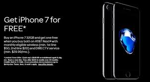 offers BOGO deal on iPhone 7 or free iPad when you switch to DirecTV