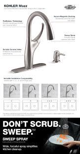 kohler mazz single handle pull down sprayer kitchen faucet in