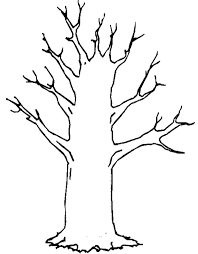 Tree Trunk With No Leaves Colouring Pages