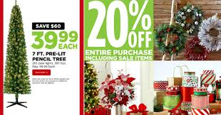 Michaels 7ft Pre Lit Pencil Tree Just 3999 Shipped Reg 9999 20 Off Entire Purchase