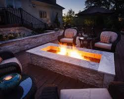 Lehrer Fireplace And Patio Denver by Best 25 Rectangular Fire Pit Ideas On Pinterest Rectangular Gas