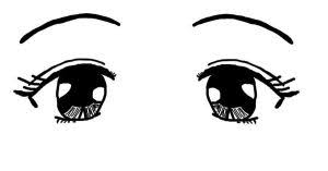 Drawings Of Anime Eyes Pair Sketch Coloring Page