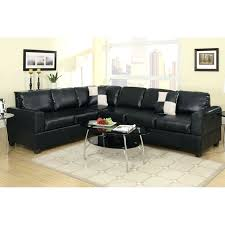 sectional black faux leather sectional modern black faux leather