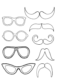 Eyeglasses Pair With Mustache Colouring Page