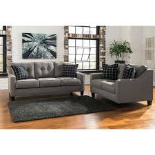 Claremore Antique Sofa And Loveseat by Ashley Furniture Brindon Livingroom Set In Charcoal Local