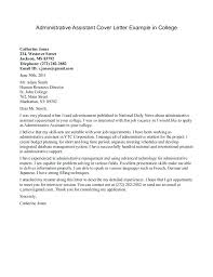 Email Cover Letter Examples Elegant Example For Administrative Position Sample With
