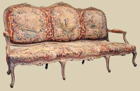 canape louis xv louis xv sofa canape with aubusson tapestry c