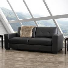 100 Cor Sofas Living Club Tufted Black Bonded Leather SofaLZY101S The Home