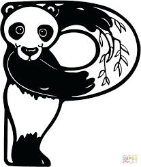 Letter Panda Coloring Pages For Preschoolers D Printable Alphabet E Full Size
