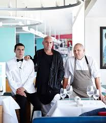 Icebergs Dining Room And Bar Sydney Restaurant Review Maurice Terzini Centre With Son Sylvester Left Chef Monty Koludrovic
