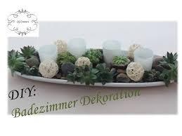 diy badezimmer dekoration selber machen mit sukkulenten